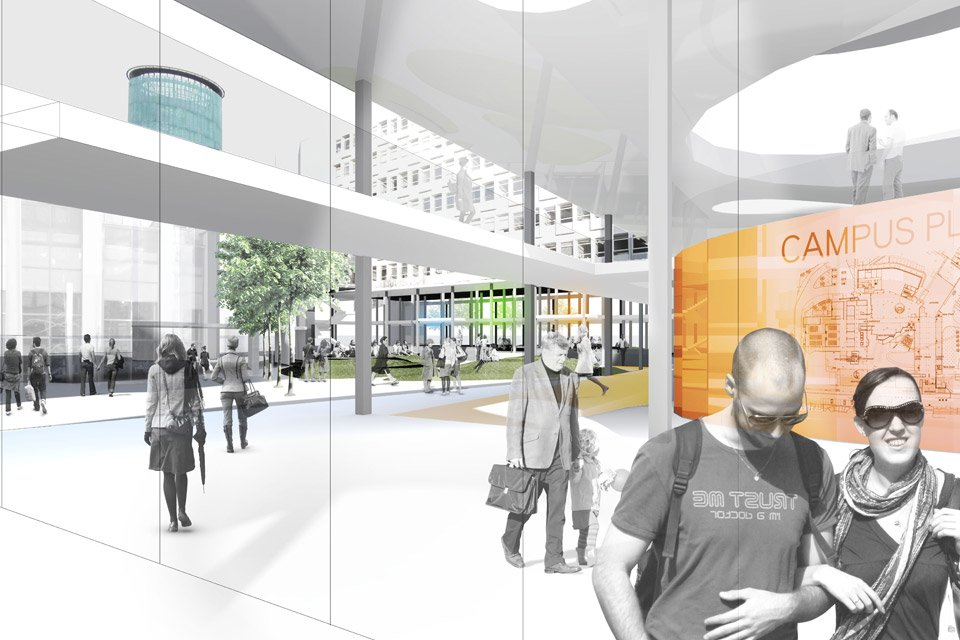 Glasgow Caledonian University The Project Is To Include Activating Saltire And Mbeki Courtyards Upgrading Lower Levels Of George Moore