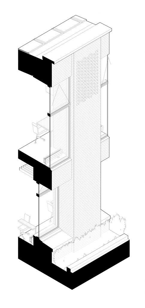 Brick Pier Detail AXO