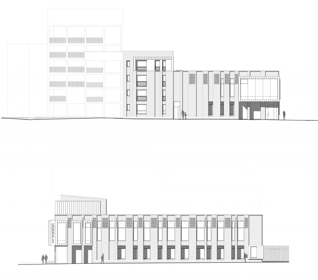 East & North Elevations