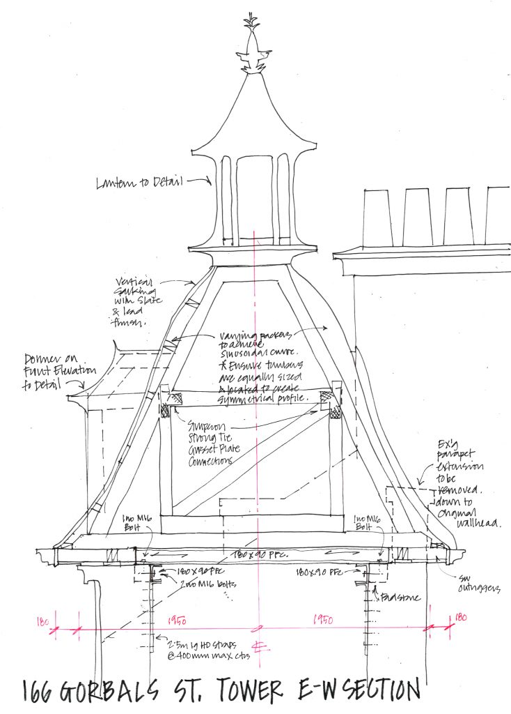 Sketch of the lost tower