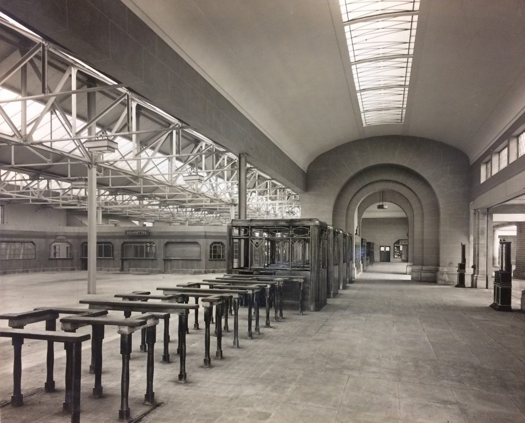 1930 - Newly completed Booking Hall