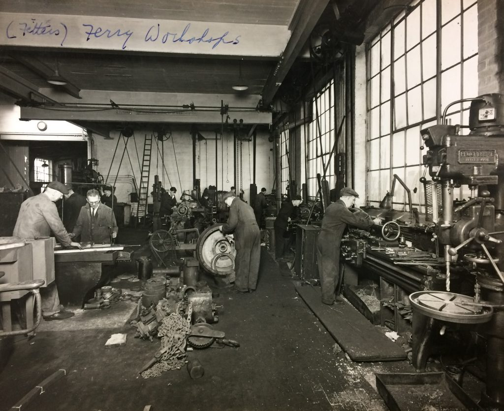1940s - Ground Floor workshop in the attraction building