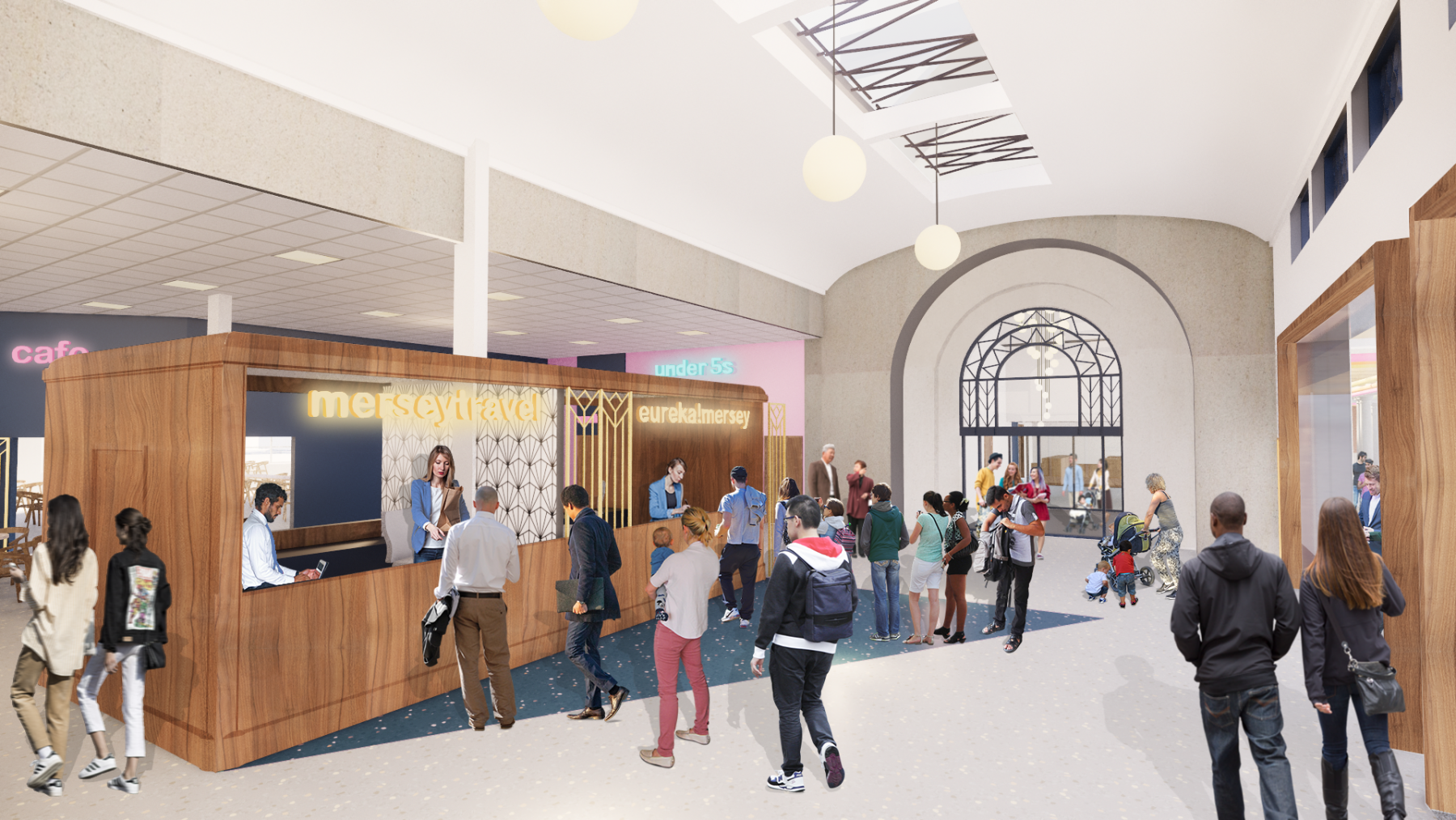 New ticket office interior