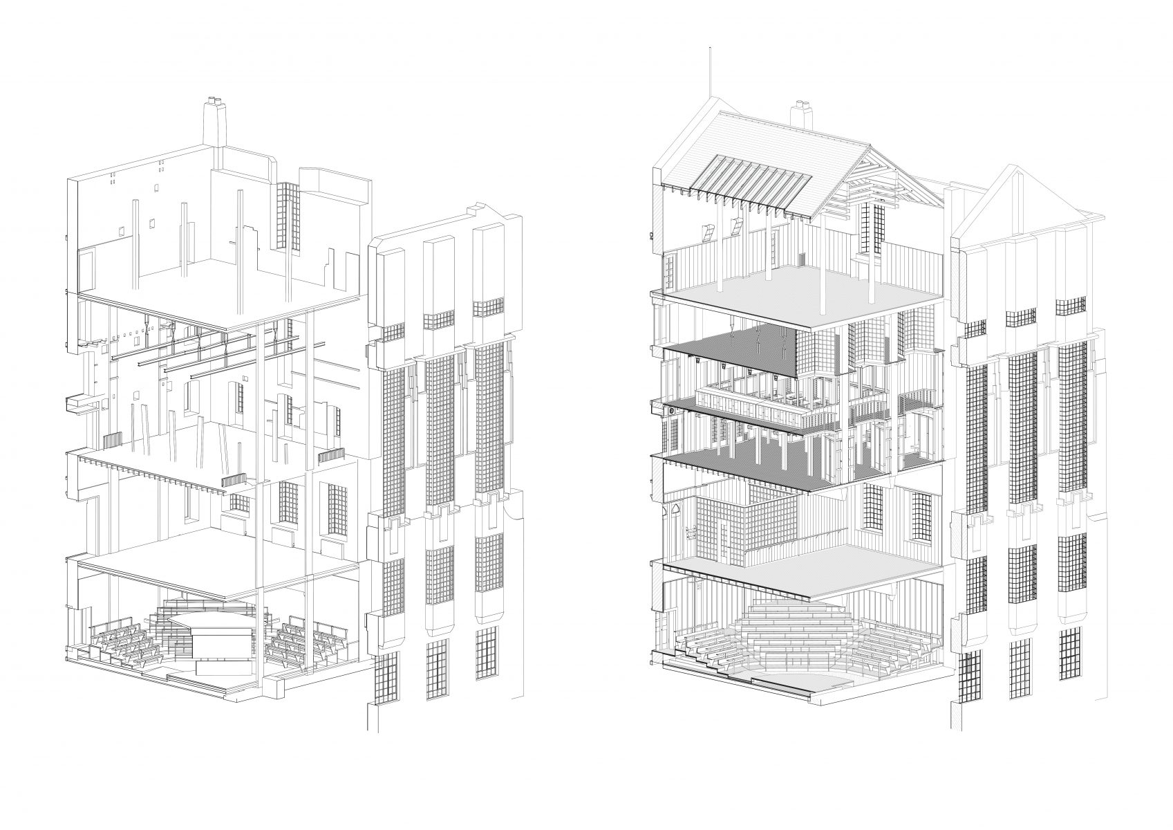 Building Information Model - before and after reconstruction