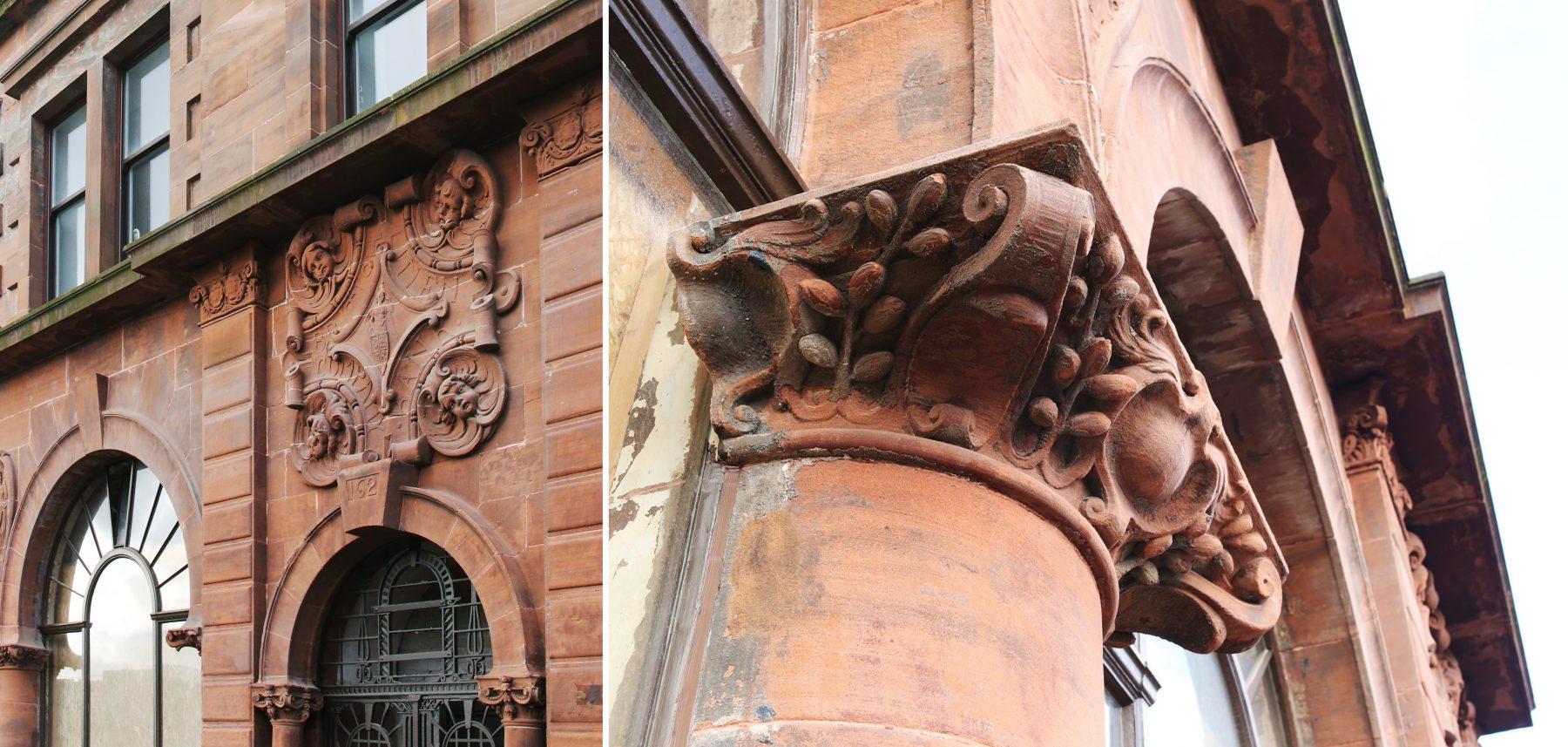 Stone facade details