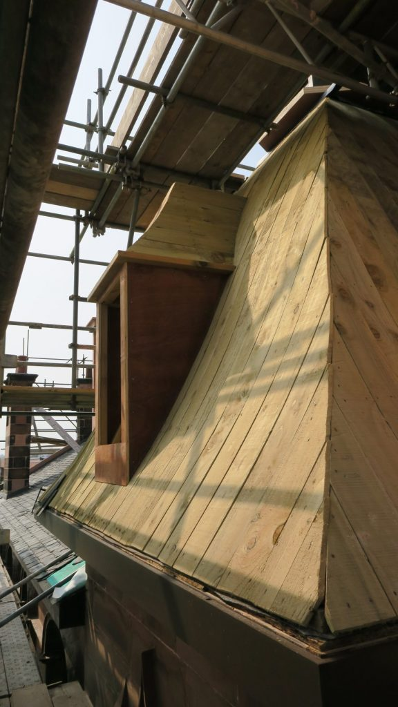 Reinstating the roof of the tower