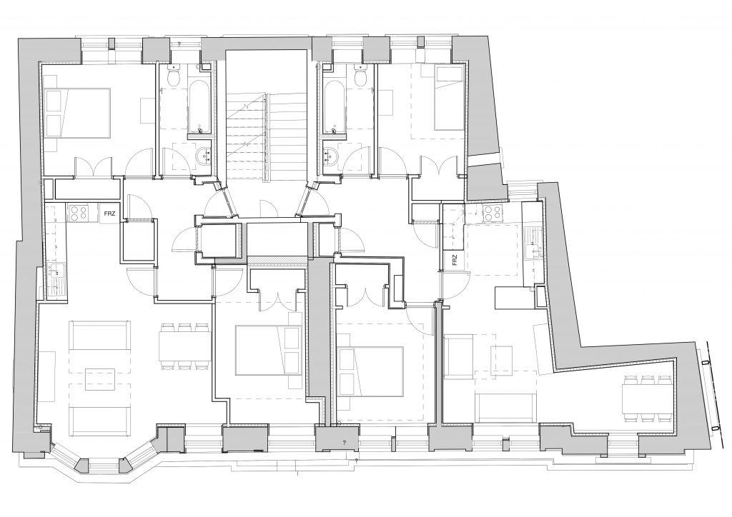 Typical upper floor plan