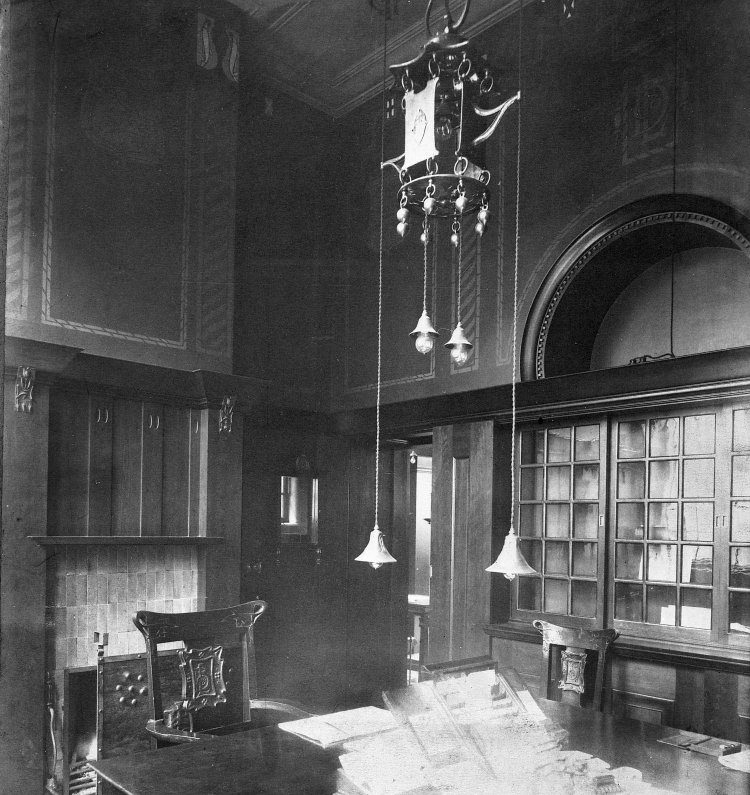 Interior of banker's agents room