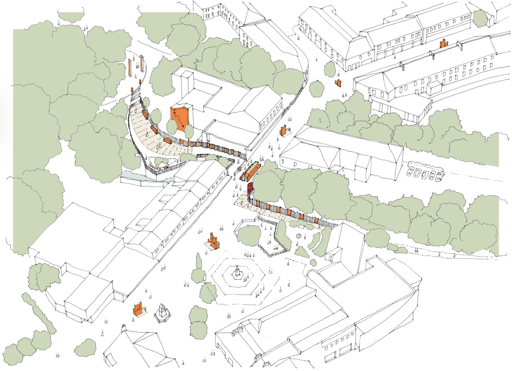 Early visioning study for the town centre