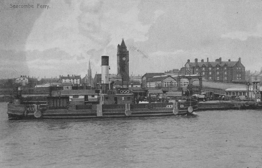 1910 - Seacombe Ferry Landing Stage