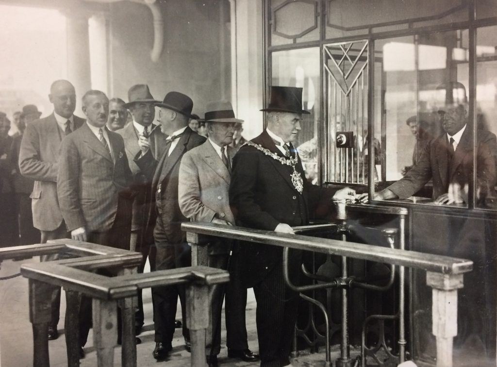 1930 - Mayor collecting his ticket on Opening Day