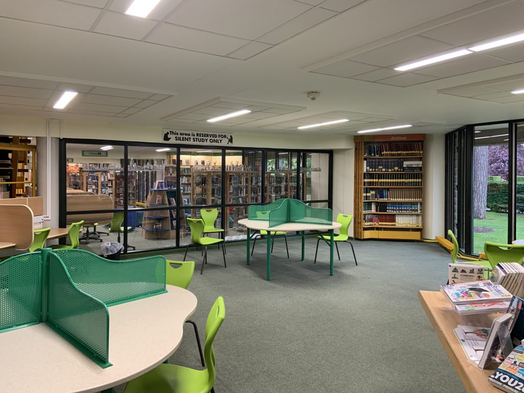 Existing library interior