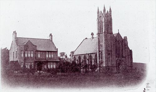 Greenbank Parish Church and manse, 1903, Giffnock Heritage Centre
