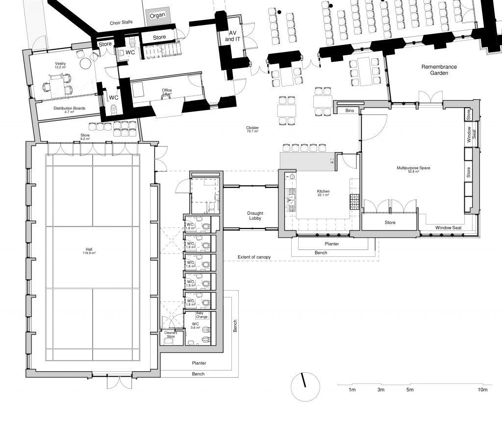 Ground floor plan extract