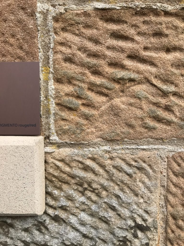 Exterior material palette